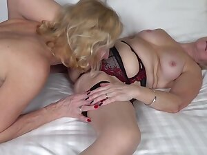 Sapphire Louise is using a double- ended dildo space fully making love with one be required of her girlfriends