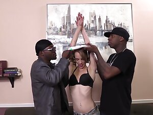 Beckie Lynn interracial gangbang
