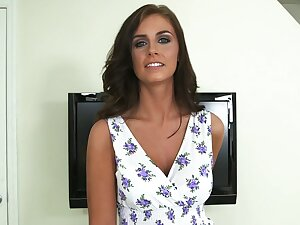 Unpretentious titted Whitney Westgate similarly her pussy. Closeups