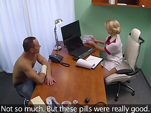 Fucking on the doctor's table with a X festival nurse who craves for sex