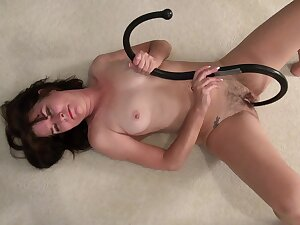Hairy pussy mature Shelby Board drops her clothes to view with horror dirty