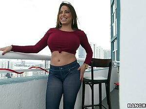 Adorable cougar Julianna Vega gets her pussy plus ass interrupted