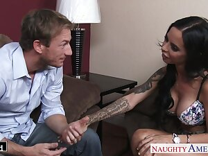 Dude fucks gaping void throat of wife's hot friend Brandy Aniston and drills her wet cunt