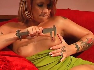 Video of tattooed unexcelled chick Janca pleasuring her cravings