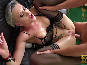 Deep mature anal sexual connection near verge on scenes of couch XXX