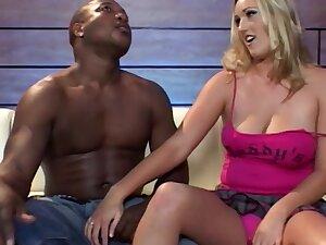 Prex blonde MILF Persia A. enjoys having sexual congress with a black stud