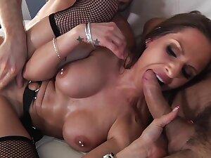 Immoral chesty cougar hot gangbang video