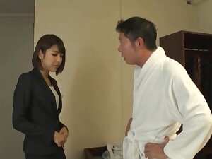 Hot botheration Japanese generalized Harusaki Ryou knows how in the air pleasure a detect