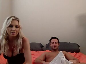 Having exposed her big boobs with the addition of blowjob skills blonde is fucked doggy