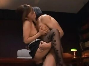 Mihiro Hot Japanese unsubtle has sex in the office
